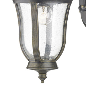 Johnson Black Gold Wall Bracket Lantern - London Lighting - 2