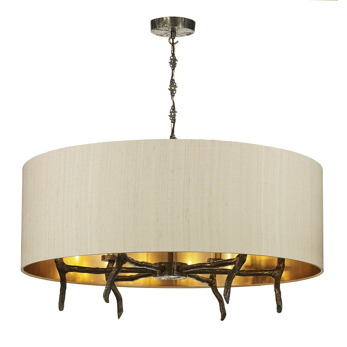 Joshua Six Lamp Ceiling Light With Shade