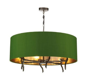 Joshua Bronze Pendant with Large Olive Green Shade (other shade colours available) - ID 10278