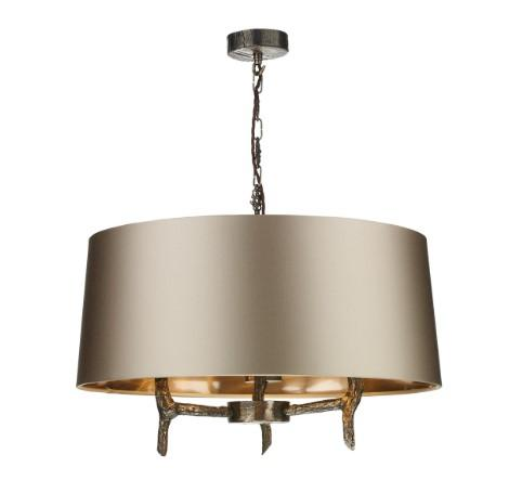 Joshua Bronze Pendant with Large Almond Cream Shade (other shade colours available) - ID 10261