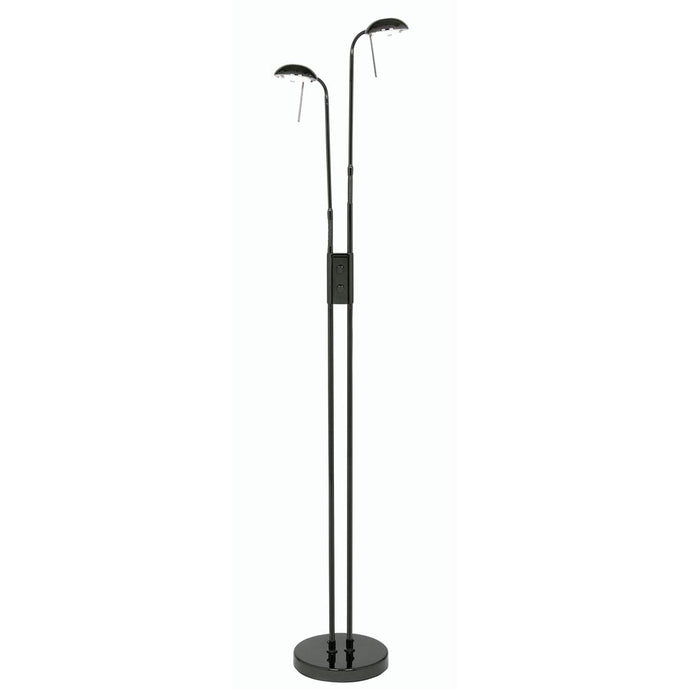 Thurso Twin Head Floor Lamp In Black Chrome - ID 9970