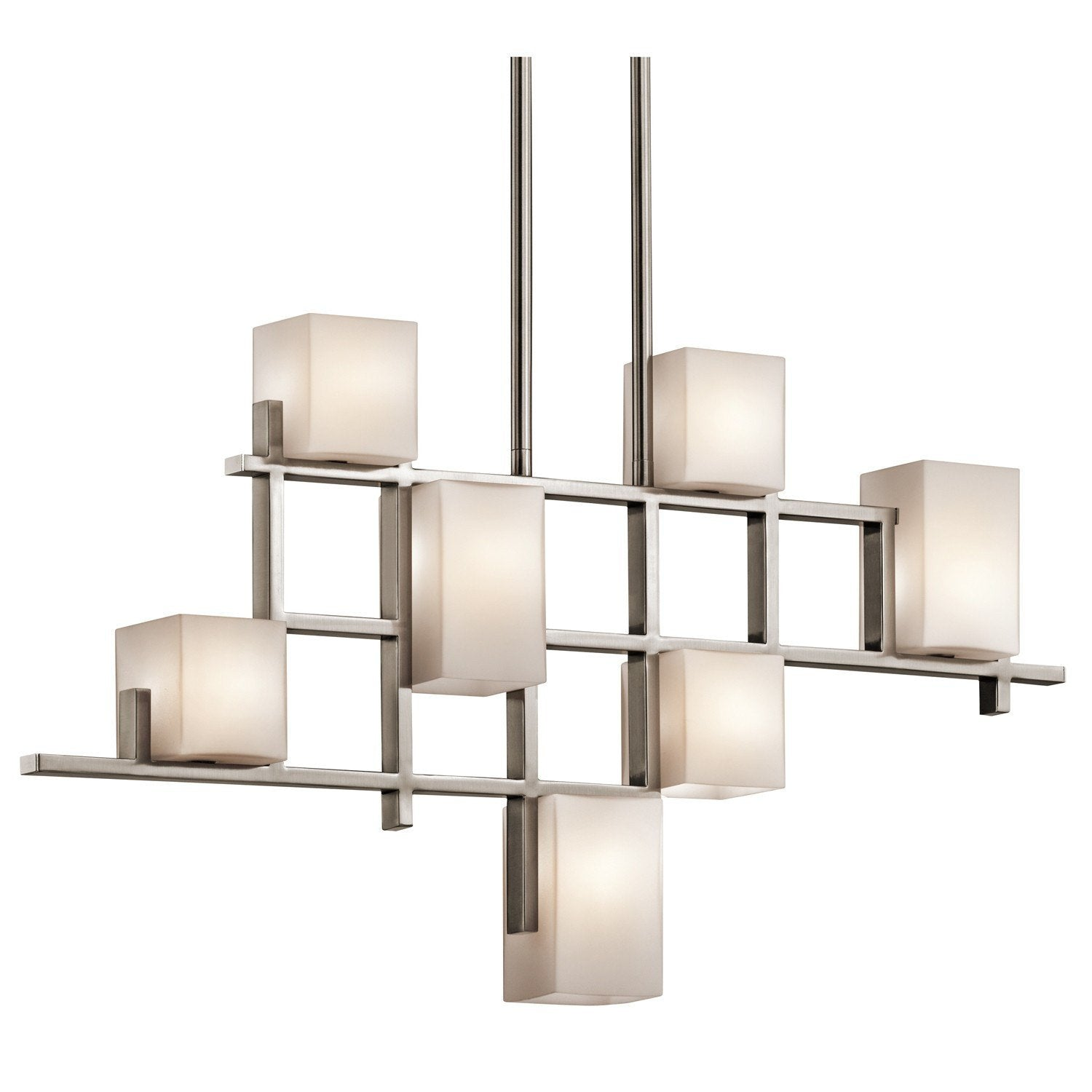 Kichler City Lights 7 Light Linear Chandelier - London Lighting - 1