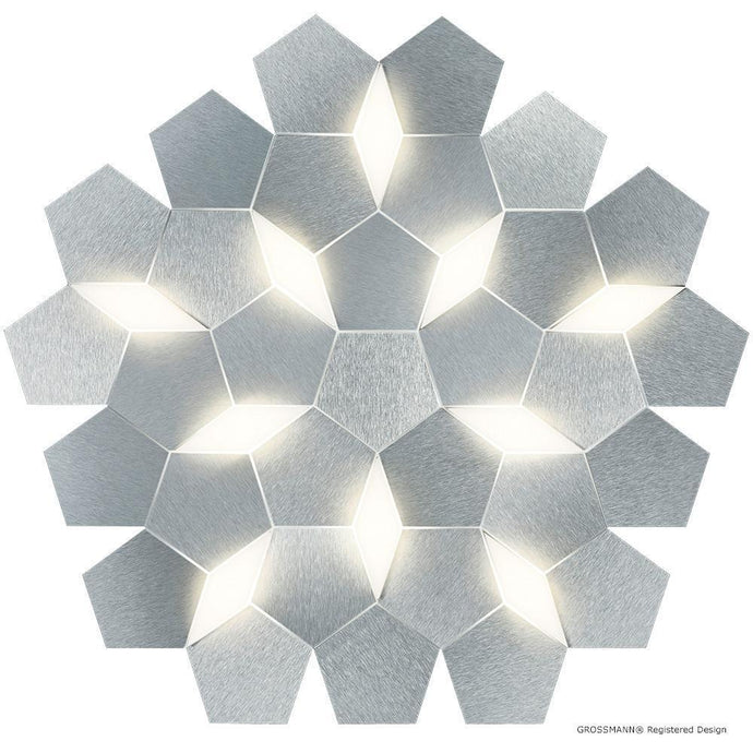 Grossmann Karat Large Wall / Ceiling Light In Aluminium - ID 6717
