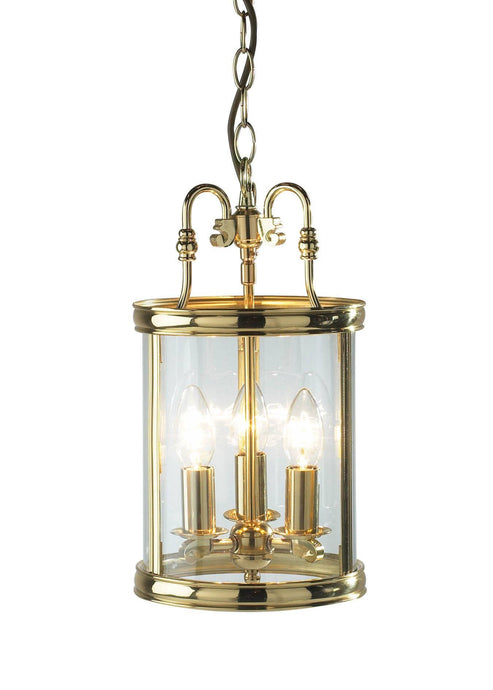 Lambeth Polished Brass Ceiling Lantern - London Lighting - 1