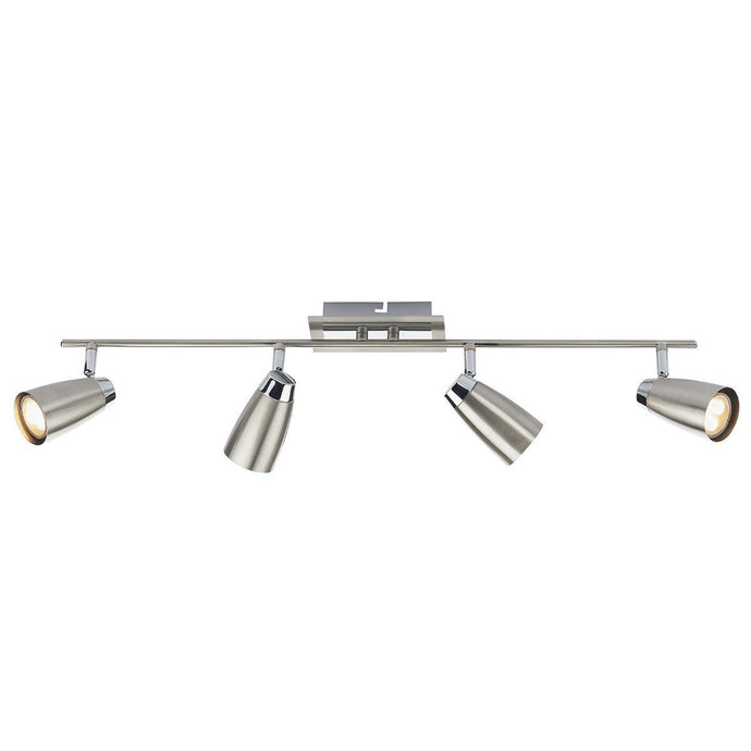 Loft Satin Chrome White 4 Lights Spotlight - London Lighting - 1
