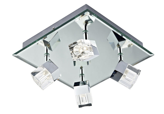 Logic LED Chrome 4 Lamp Ceiling Light - London Lighting - 1