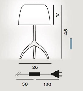 Foscarini Lumiere Large with Dimmer Table Lamp - London Lighting - 2