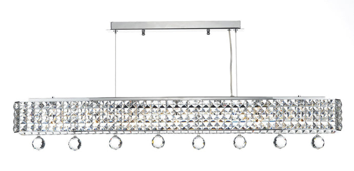 Matrix Chrome 6 Lamp Ceiling Light - London Lighting - 1