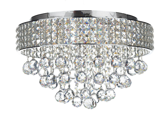 Matrix Chrome 5 Lamp Ceiling Light - London Lighting - 1