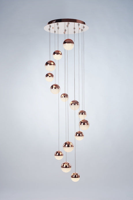 Eclipse 14 Light Copper Pendant - London Lighting