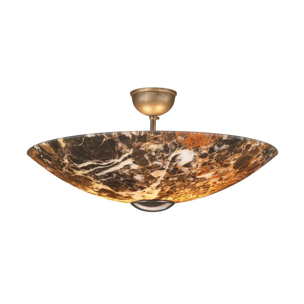Savoy Dark Marble Semi-Flush - London Lighting - 1