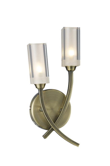 Morgan Antique Brass Wall Lamp - London Lighting - 1