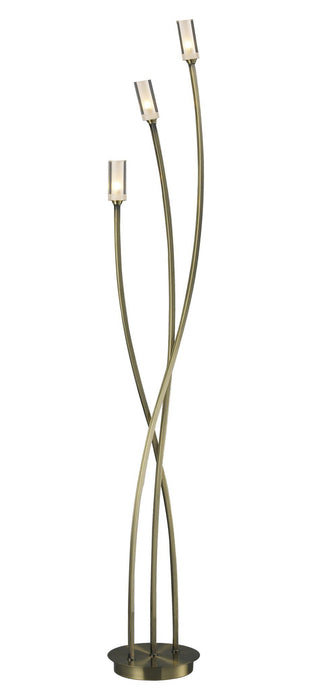 Morgan Antique Brass Floor Lamp - London Lighting - 1