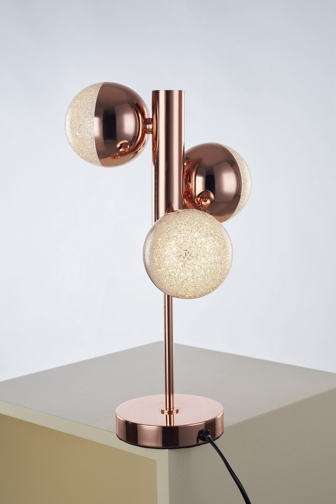 Eclipse 3 Light Copper Table Lamp - London Lighting