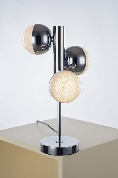 Eclipse 3 Light Chrome Table Lamp - London Lighting