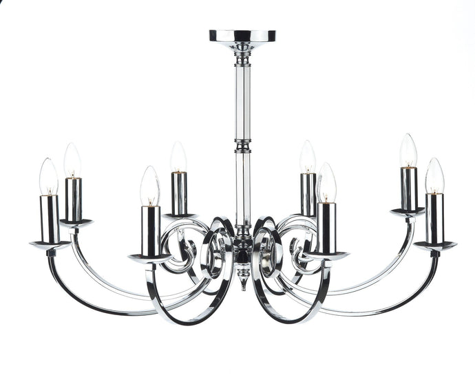 Murray Chrome 8 Lamp Chandelier - London Lighting - 1