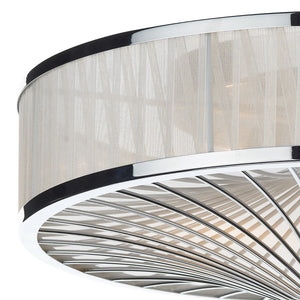 Oslo Polished Chrome 3 Lights Flush Light - London Lighting - 2