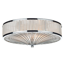 Oslo Polished Chrome 3 Lights Flush Light - London Lighting - 1