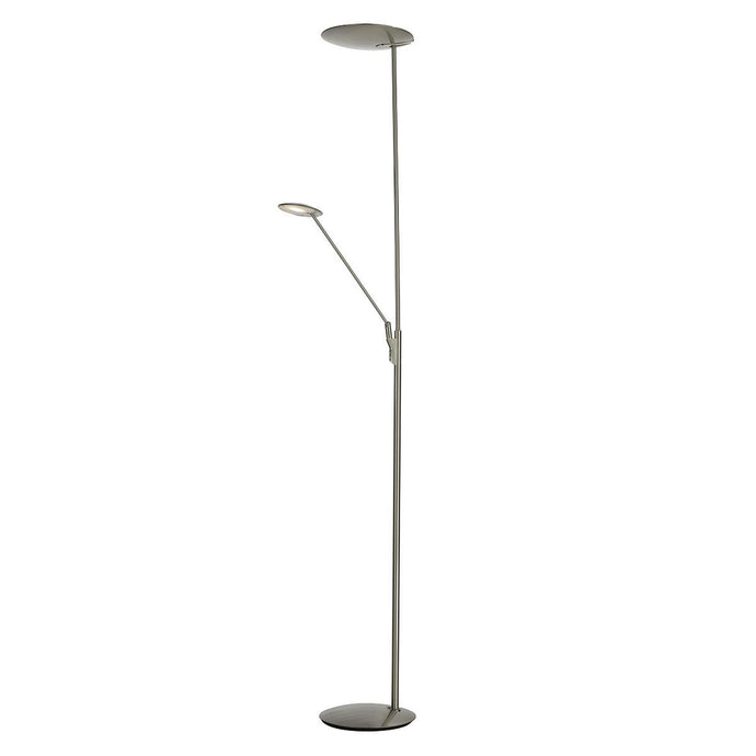 Satin Chrome LED Floorstand with Adjustable Head and Arm - ID 5795