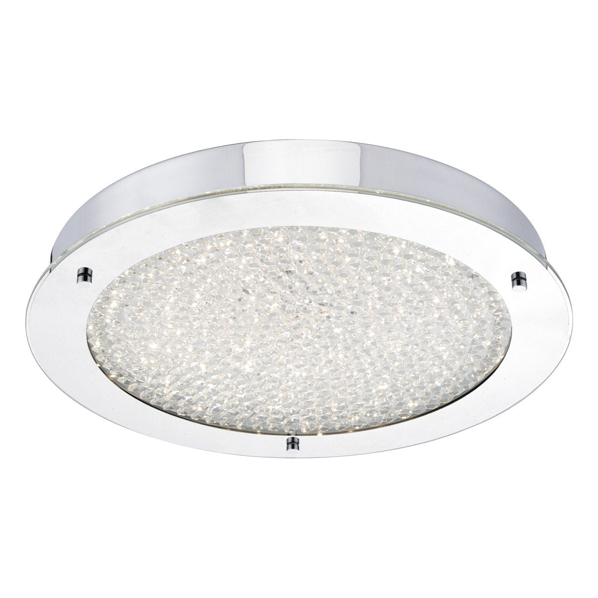 Heath Polished Chrome and Crystal Flush Bathroom Light - ID 6890