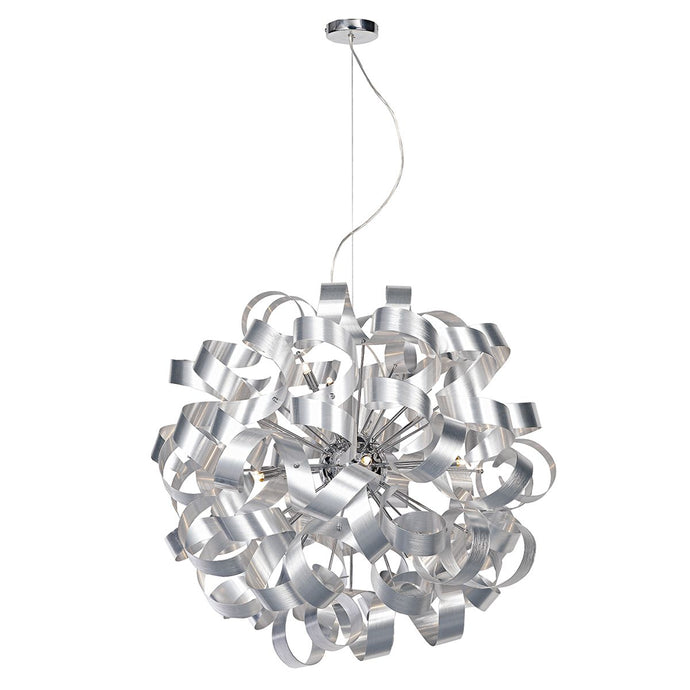 Becontree Brushed Aluminium 12 Light Pendant - ID 7016