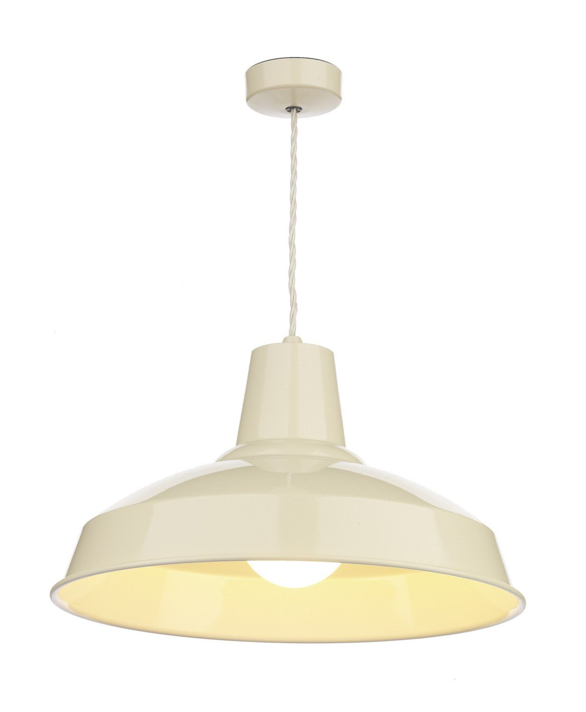Reclamation Cream Lamp Ceiling Light - London Lighting - 1