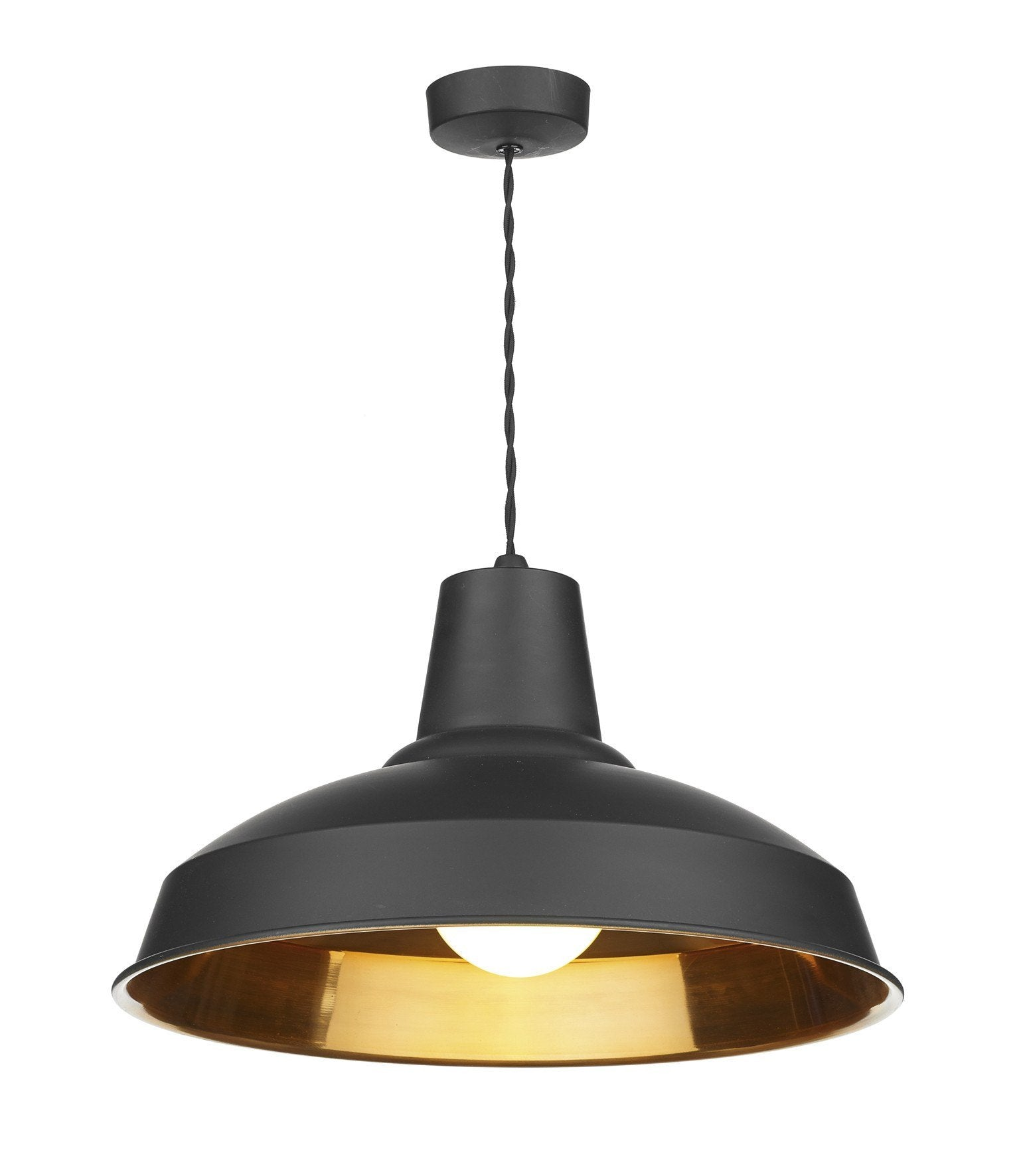 Reclamation Black Lamp Ceiling Light - London Lighting - 1