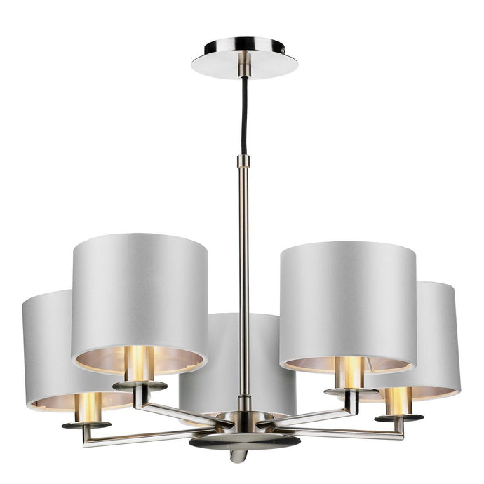 Homerton 5 Light Pendant In Satin Nickel - ID 8680