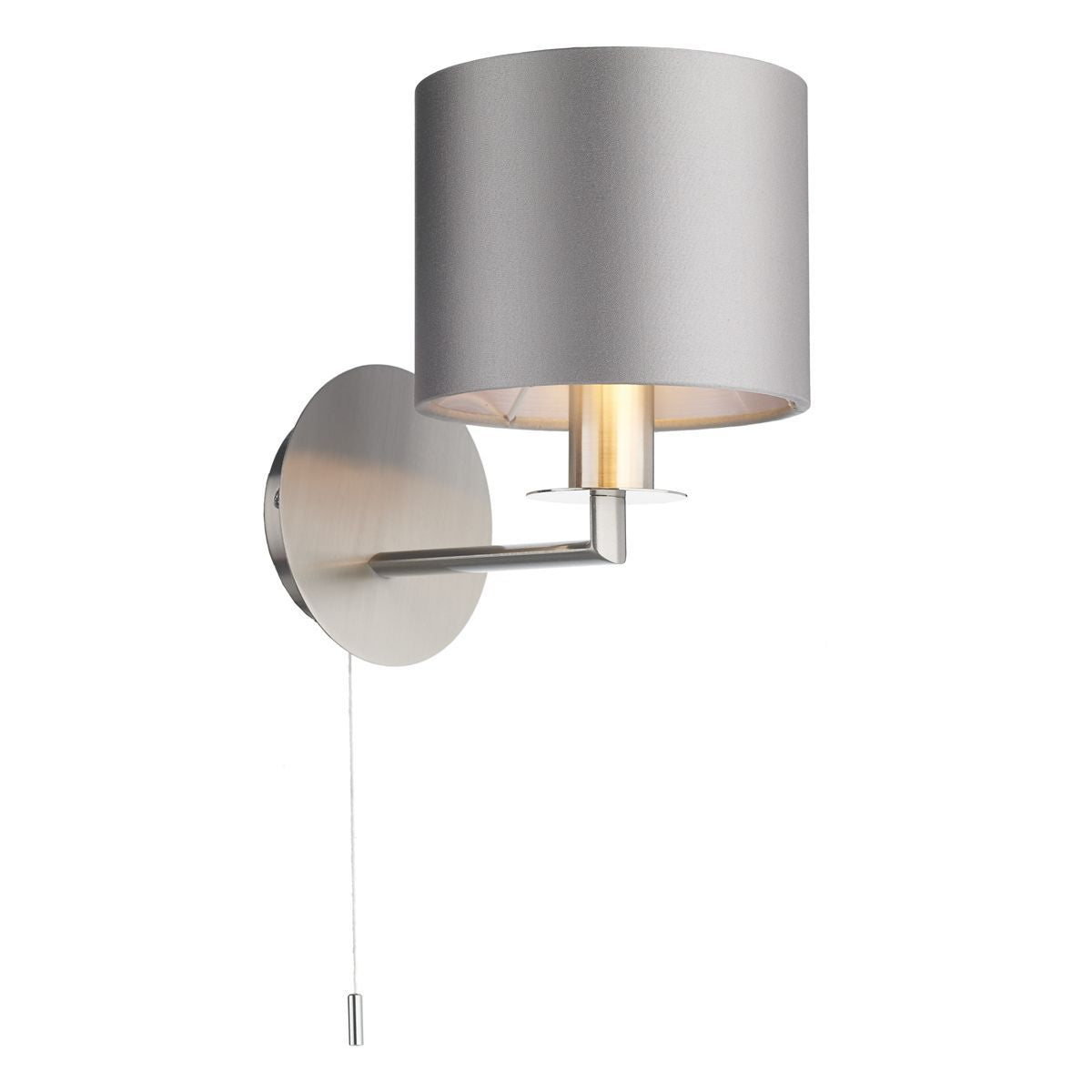 Homerton 1 Light Wall Light In Satin Nickel - ID 8685