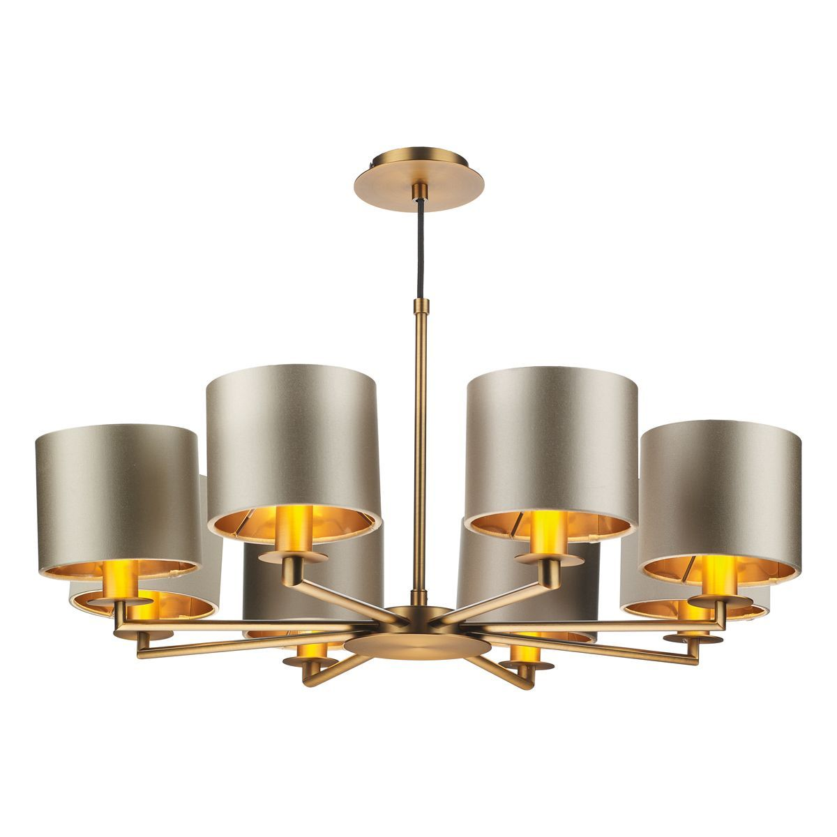Homerton 8 Light Pendant In Bronze - ID 8683