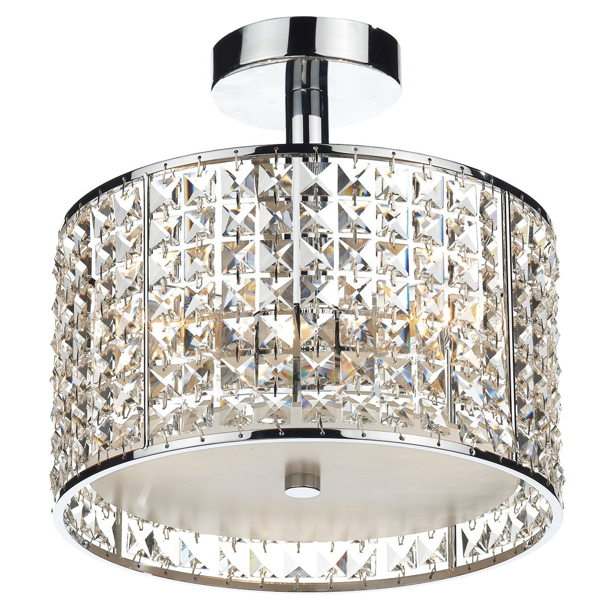 Rhodes Three Light Semi Flush Bathroom Ceiling Light