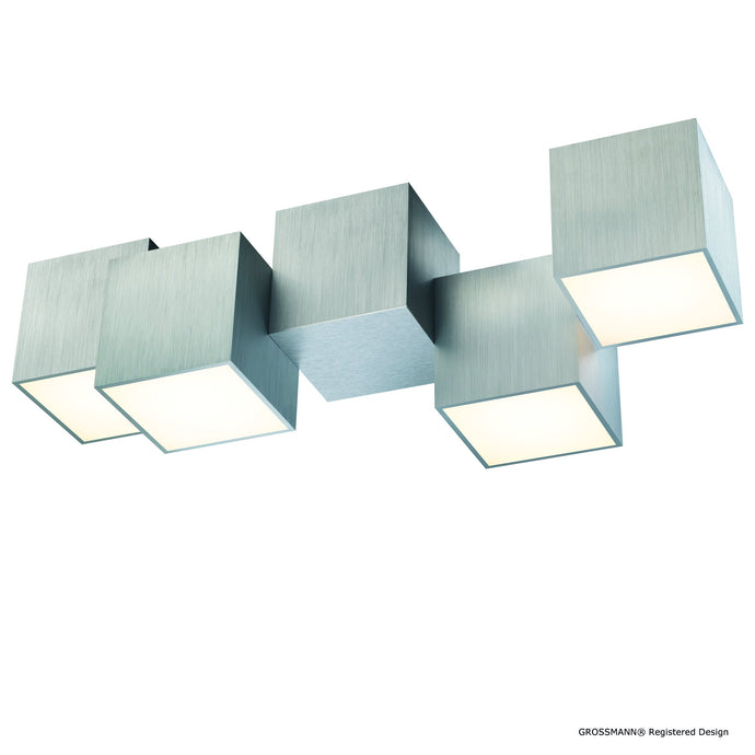Grossmann Rocks Four Lamp Medium Ceiling Light - Colour Options
