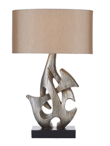 Sabre Silver Table Lamp - London Lighting - 1