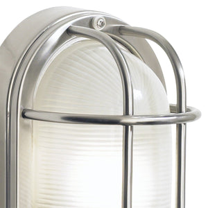 Salcombe Small Oval Steel Wall Light - London Lighting - 2