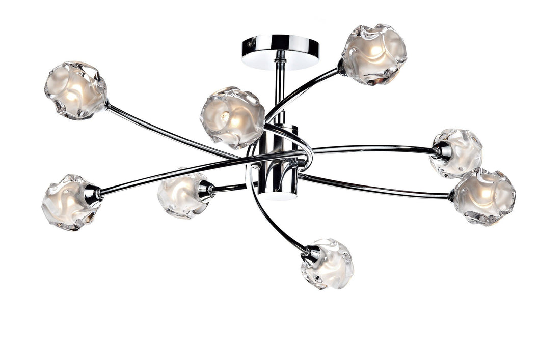 Seattle Chrome 8 Lamp Ceiling Light - London Lighting - 1