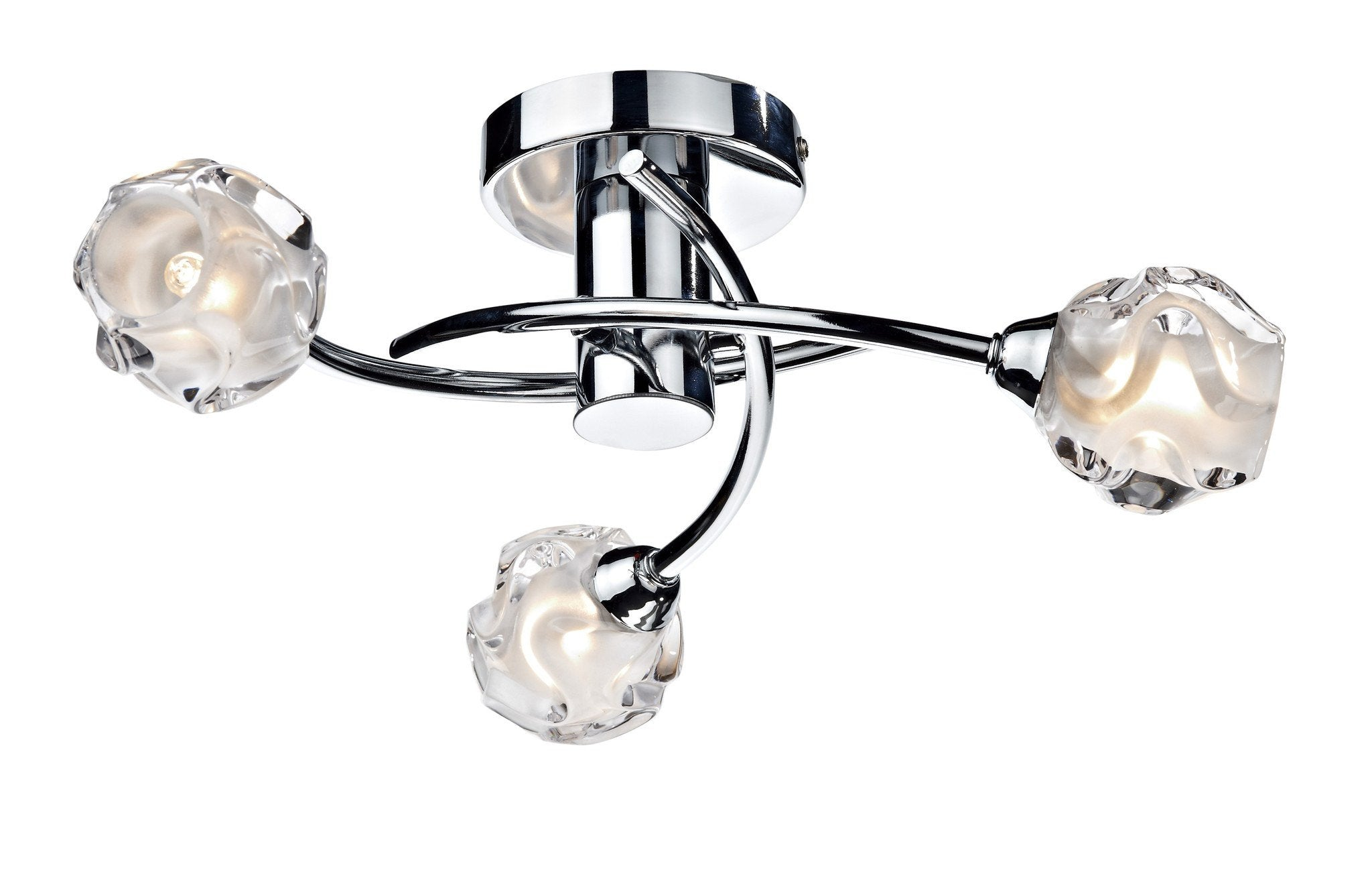 Seattle Chrome 3 Lamp Ceiling Light - London Lighting - 1