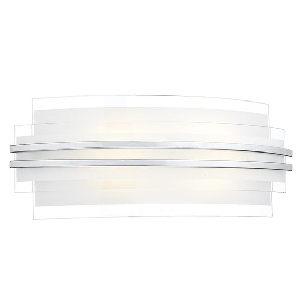 Sector White Large Double Trim Led Wall Bracket - London Lighting - 1