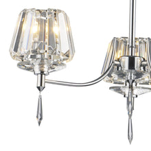 Selina Polished Chrome 3 Lights Semi-Flush - London Lighting - 2