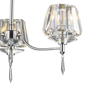 Selina Polished Chrome 3 Lights Semi-Flush - London Lighting - 4