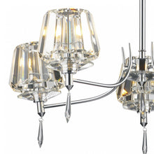 Selina Polished Chrome 5 Lights Semi-Flush - London Lighting - 4