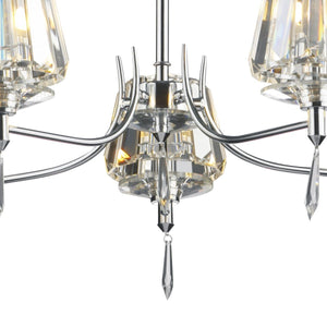 Selina Polished Chrome 5 Lights Semi-Flush - London Lighting - 3