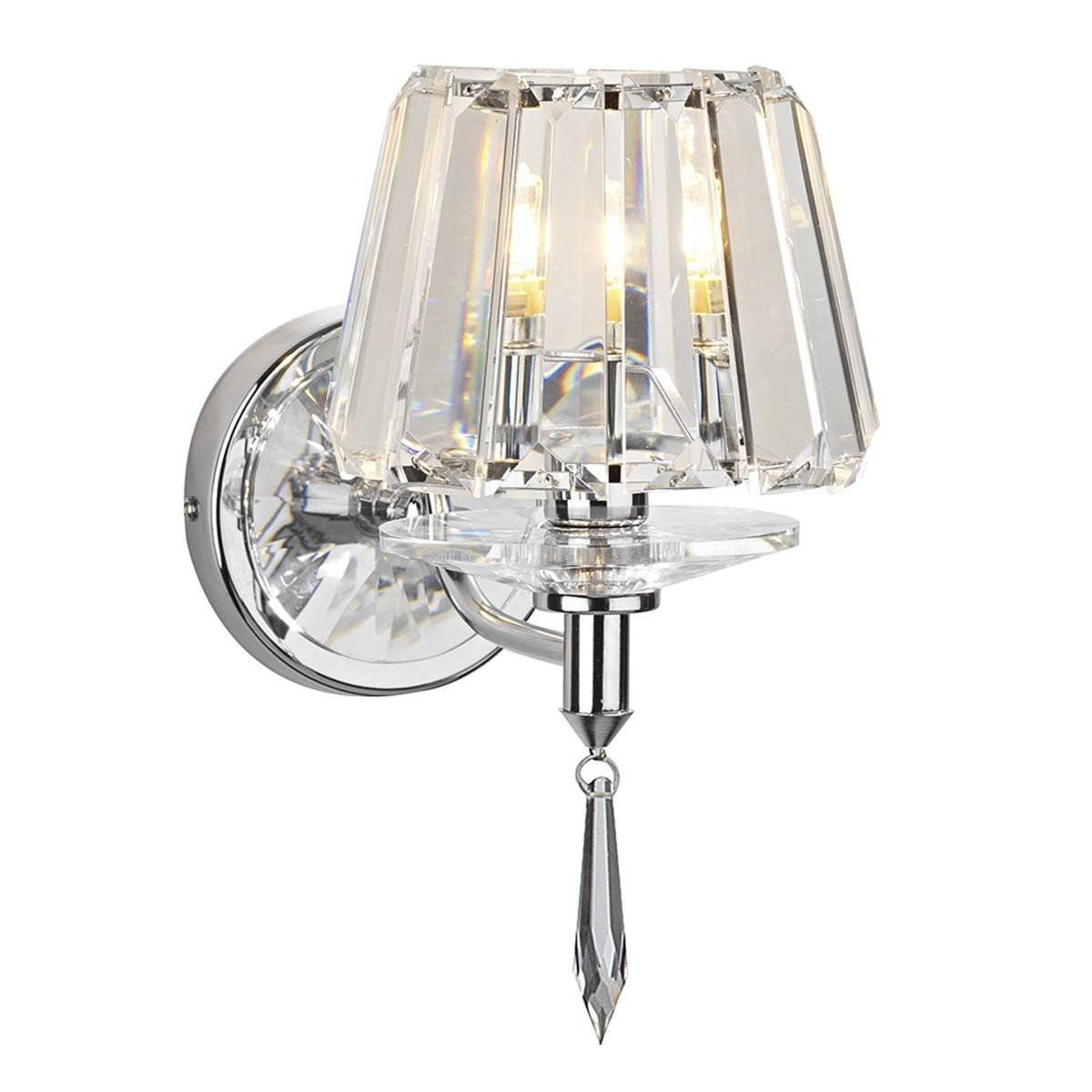 Selina Polished Chrome 1 Light Wall Bracket - London Lighting - 1