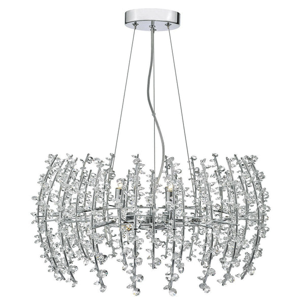 Sestina 6 Light Crystal Pendant - London Lighting - 1