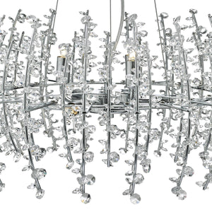 Sestina 6 Light Crystal Pendant - London Lighting - 3