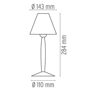 FLOS Miss Sissi White Table Lamp - London Lighting - 2
