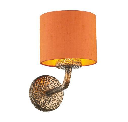 Sloane Wall Light Bronze With Orange & Gold Shade (other shade colours available) - ID 10246