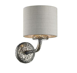 Sloane Wall Light Pewter With Grey & Silver Shade (other shade colours available) - ID 10247