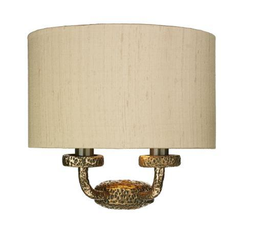 Sloane Double Wall Light Bronze With Taupe & Gold Shade (other shade colours available) - ID 10248