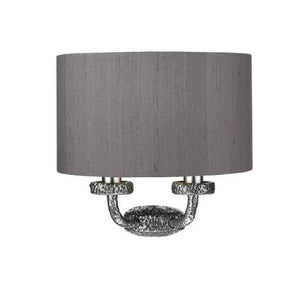 Sloane Double Wall Light Pewter With Charcoal & Silver Shade (other shade colours available) - ID 10249