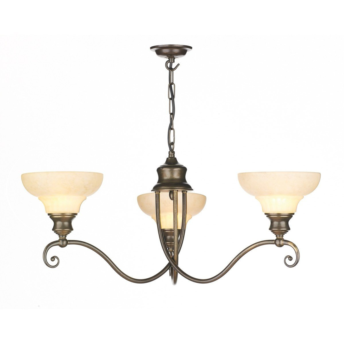 Stratford Brass 3 Lights Pendant Light - London Lighting - 1